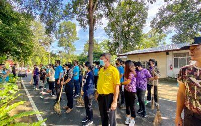วันนี้วันที่ 28 สิงหาคม 2563 ส่วนจัดการต้นน้ำ สบอ.9   ร่วมทำความสะอาด big cleaning day บริเวณพื้นที่สำนักงาน